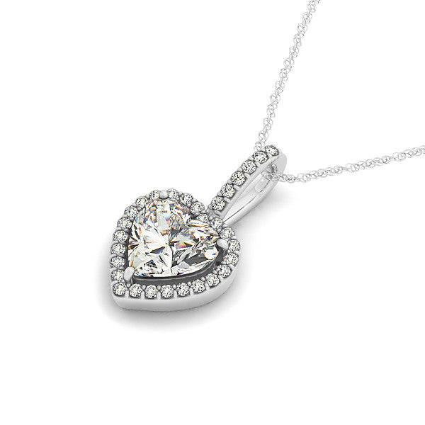 round product necklace forever pendant com newegg moissanite classic