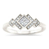 Princess Cut Bezel Set Moissanite Engagement Ring Diamond Setting Kite Set Stone - Empire - Moissanite Rings