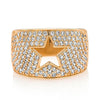 Diamond Pave Cigar Band Cutout Star
