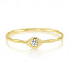 Solid Gold Tiny Evil Eye Diamond