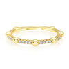 Gold Bead and Diamond Stacking Band