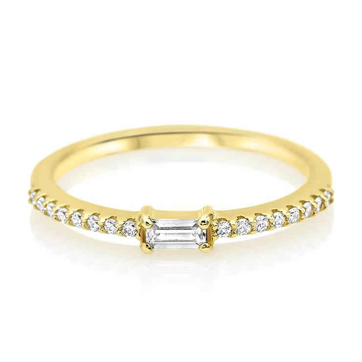 Single Baguette Diamond Band