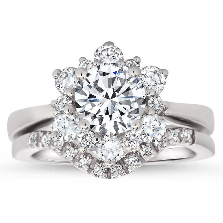 wide r lucida diamond b cut band product solitaire w ring engagement round