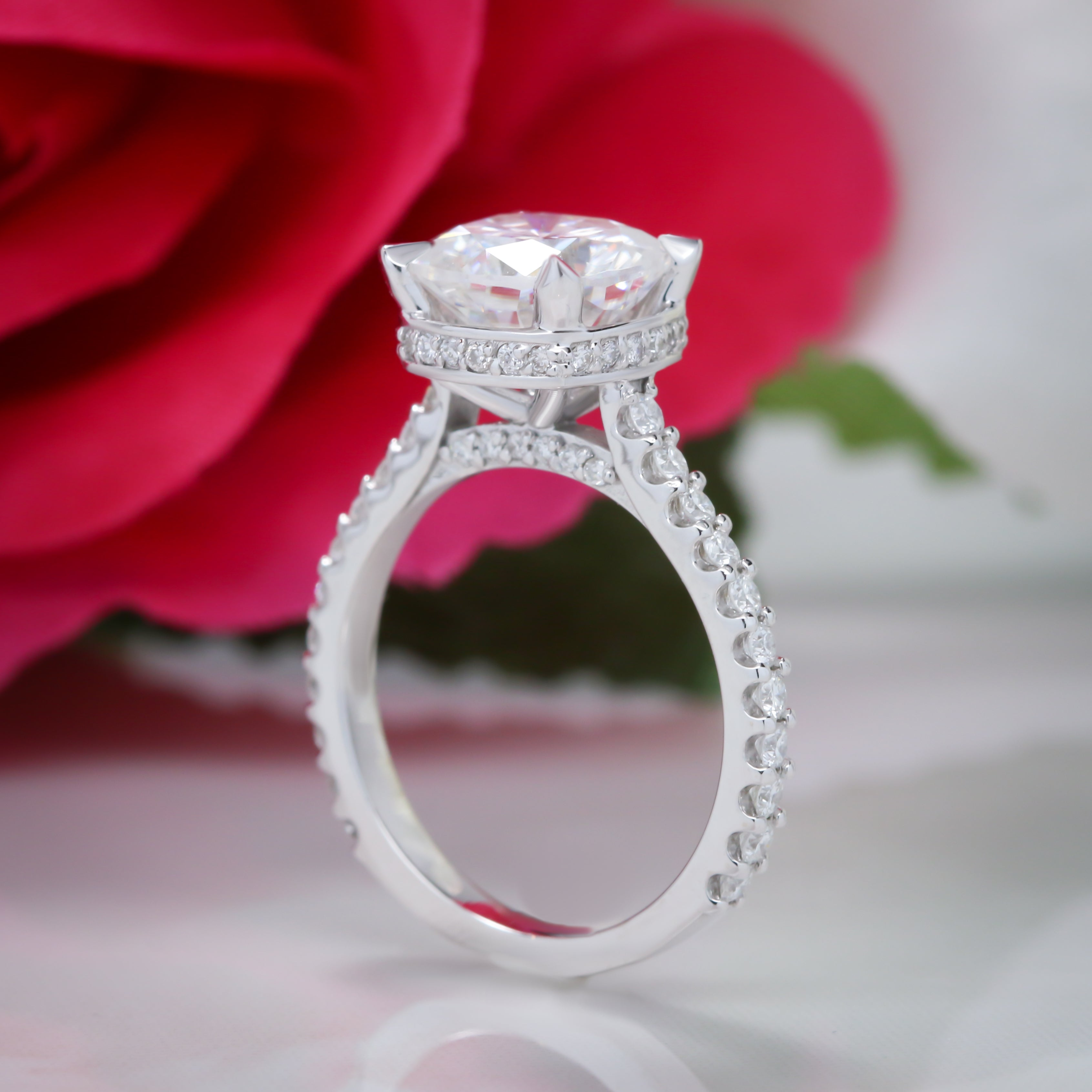 gabriel rings blush collection collections engagement gold bridal co rose gallery