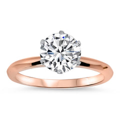 8mm Knife Edge Solitaire Engagement Ring - Tiff - Moissanite Rings