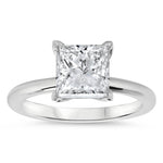 Forever One Princess Cut Solitaire Engagement Ring - June - Moissanite Rings