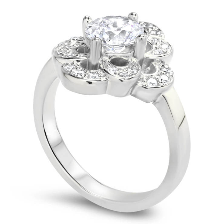 Forever One Engagement Ring Diamond Setting - Zoey - Moissanite Rings