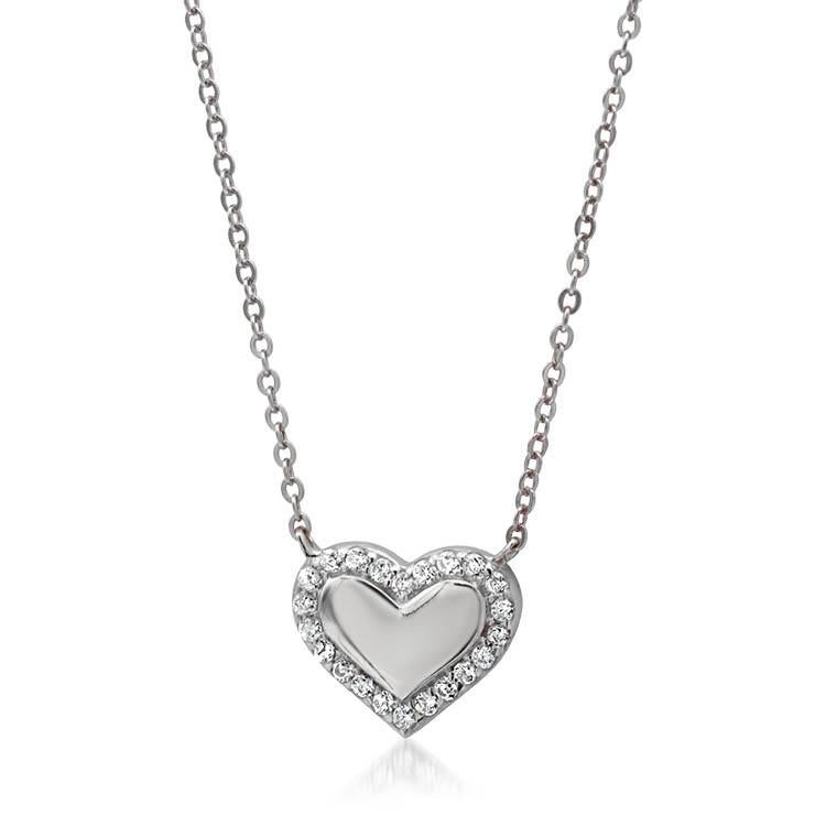 Mini Diamond Heart Necklace