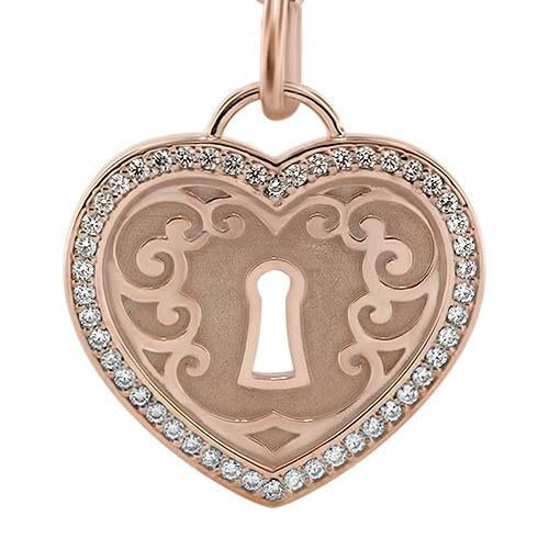 Diamond Padlock Heart Necklace - Moissanite Rings