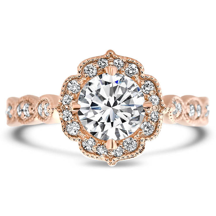 Vintage Style Moissanite Engagement Ring - Maria - Moissanite Rings