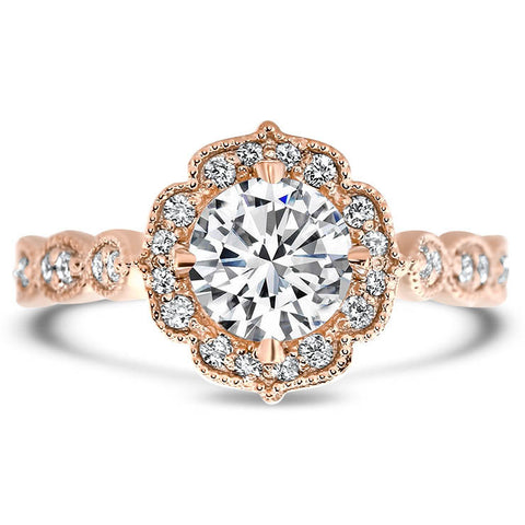 Vintage Style Moissanite Engagement Ring - Maria