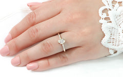 Bezel Set Oval Solitaire Engagement RIng Moissanite Ring - Olivia - Moissanite Rings