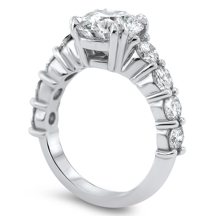 Diamond Engagement Ring Large Moissanite Setting - Phyllis - Moissanite Rings