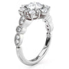 Vintage Band Snowflake Engagement Ring Diamond Setting Moissanite Center - Vintage Snowflake