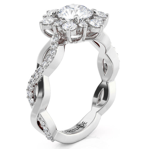Twisted Band Snowflake Engagement Ring - Twisted Snowflake