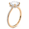 8mm Cushion Cut Moissanite Hidden Halo Engagement Ring - Janis