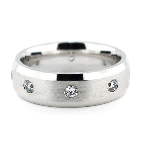 Men's Diamond  Wedding Band - Leo - Moissanite Rings
