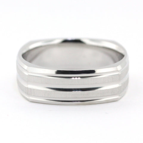 Men's Wedding Band - Andre - Moissanite Rings