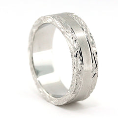 Men's Wedding Band - Love - Moissanite Rings
