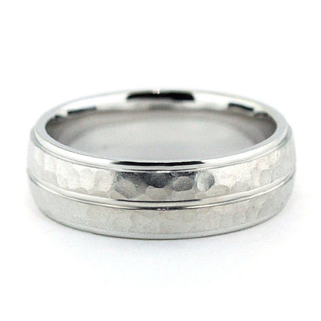 Men's Wedding Band - Dimples - Moissanite Rings