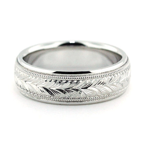 Men's Wedding Band - Oliver - Moissanite Rings