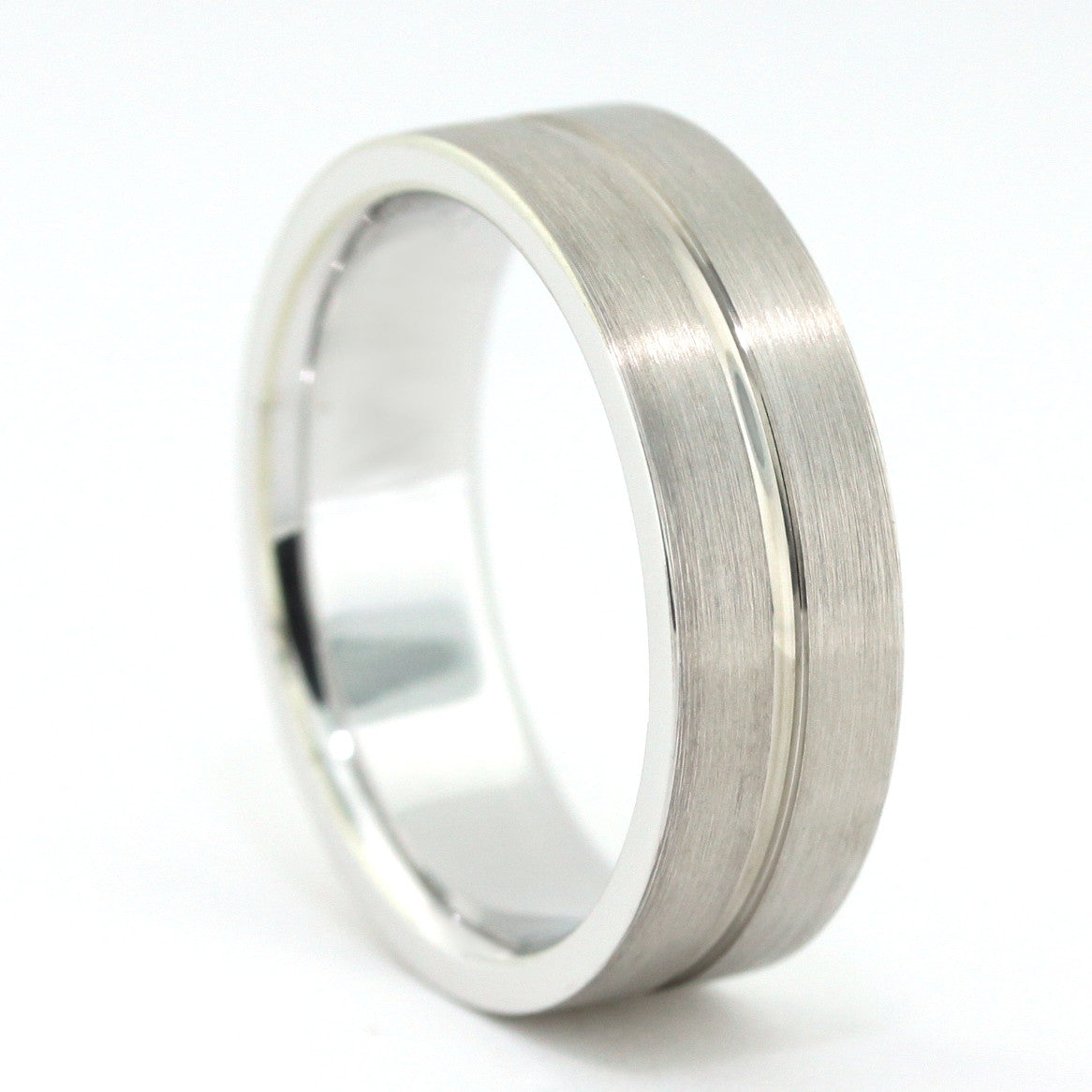 Men's Wedding Band - Bradley - Moissanite Rings