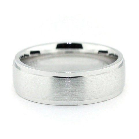 Men's Wedding Band - Banded - Moissanite Rings