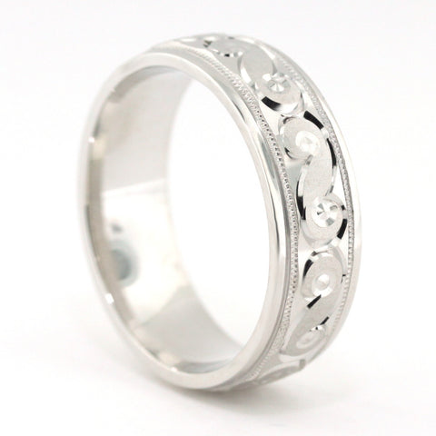 Men's Wedding Band - Stephen - Moissanite Rings