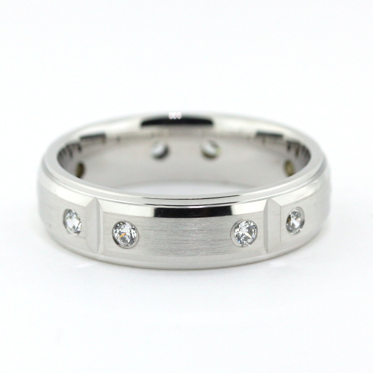 Men's Diamond Wedding Band - Robert - Moissanite Rings