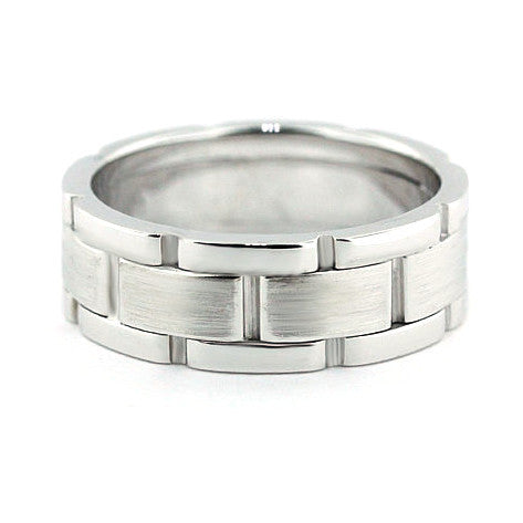 Men's Wedding Band - Home - Moissanite Rings