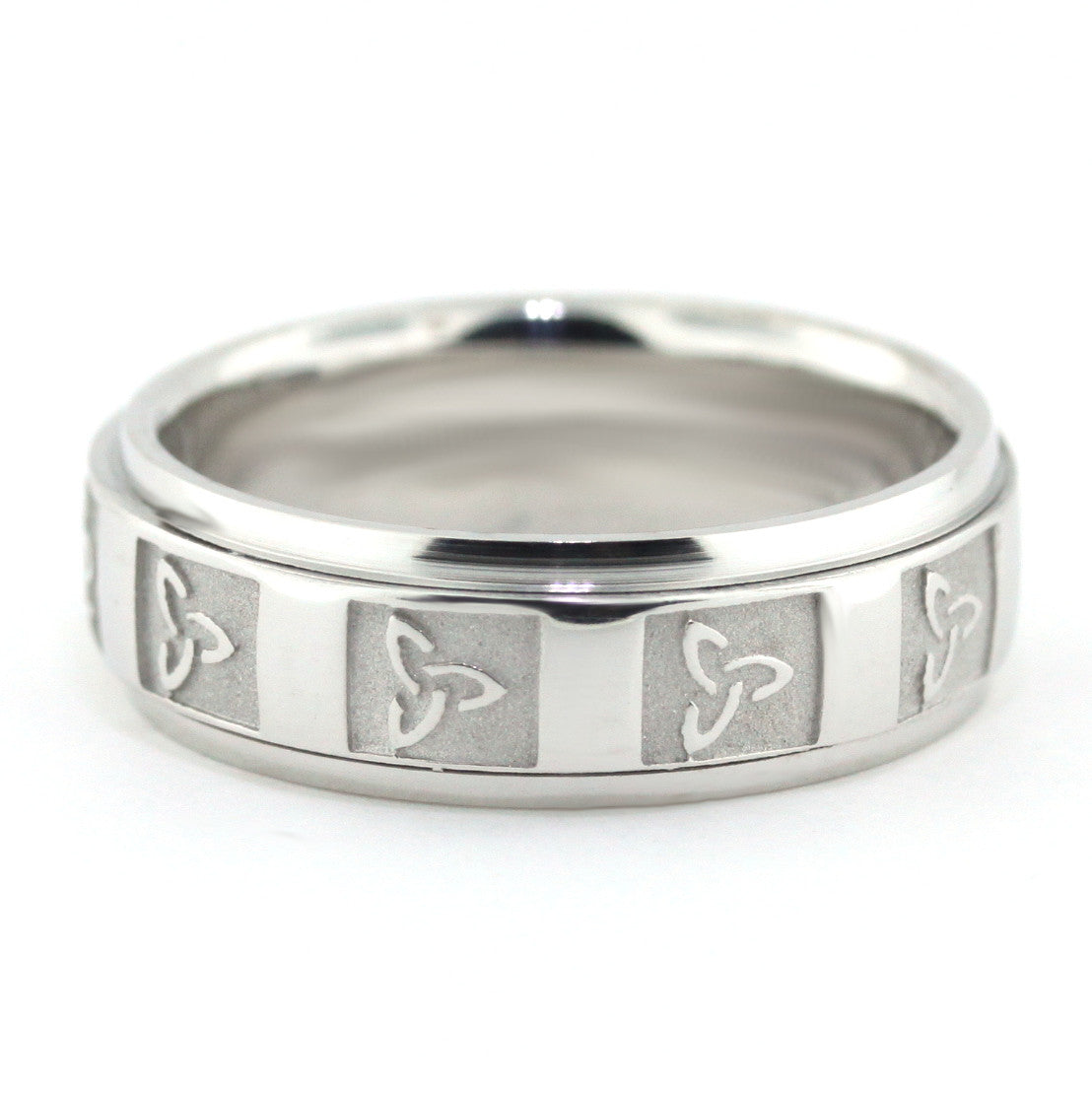Men's Wedding Band - Celtic II - Moissanite Rings