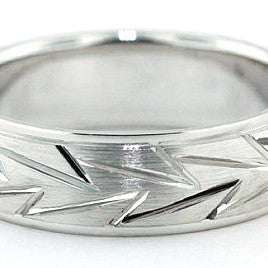 Men's Wedding Band - Striking - Moissanite Rings