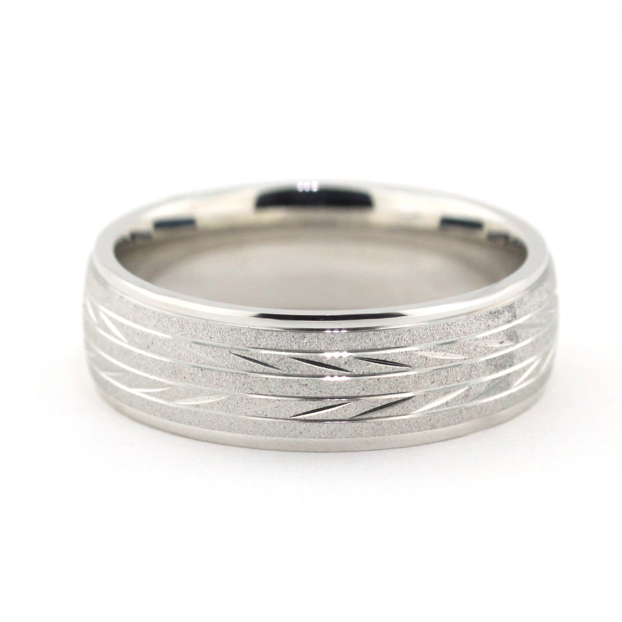 Men's Wedding Band - Sprint - Moissanite Rings