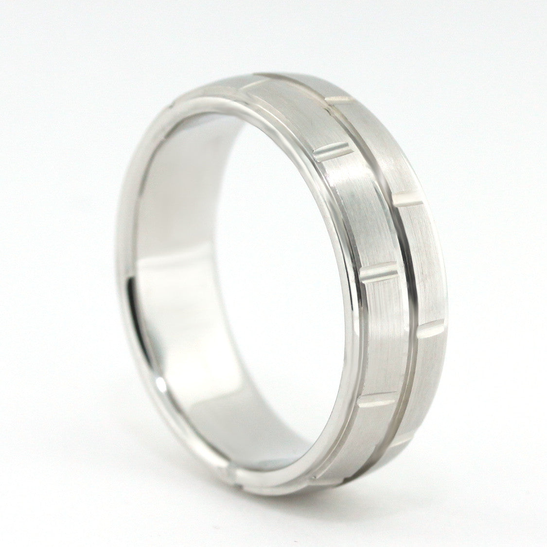 Men's Wedding Band - Don - Moissanite Rings