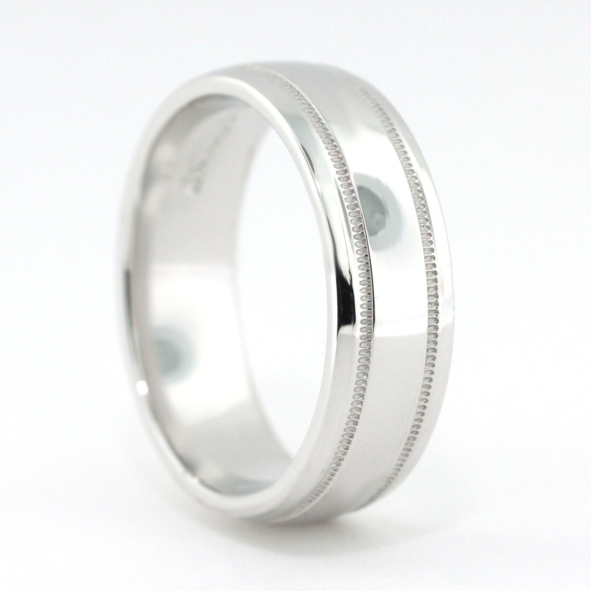 Men's Wedding Band - All Mine - Moissanite Rings