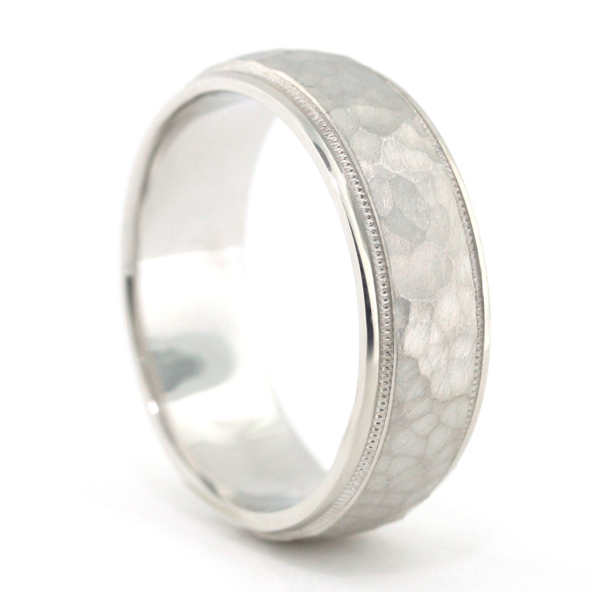 Men's Wedding Band - Rocky - Moissanite Rings
