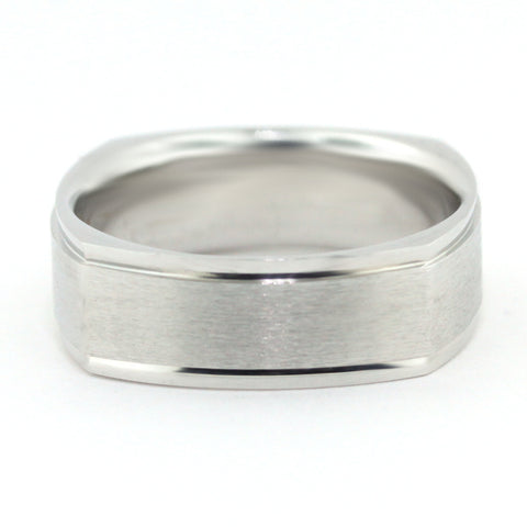 Men's Wedding Band -  Jacques - Moissanite Rings