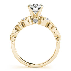 Vintage Design Engagement Ring Moissanite Center - Celine - Moissanite Rings
