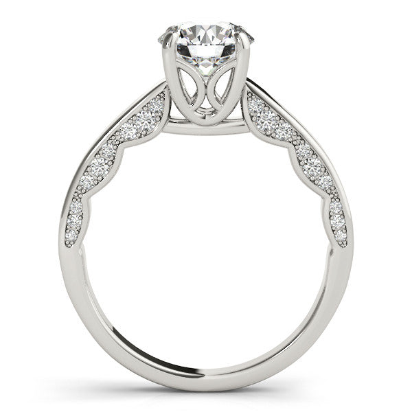 Diamond Surprise Engagement Ring Moissanite Center Stone Wedding Set - Moissanite Rings