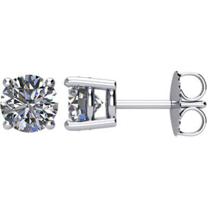 Forever Brilliant Moissanite Stud Earrings (4 prongs) - Moissanite Rings