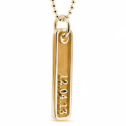 Thin Dog Tag Personalized Necklace