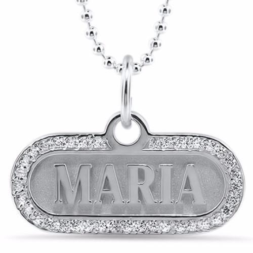 Personalized Name Diamond Necklace - Moissanite Rings