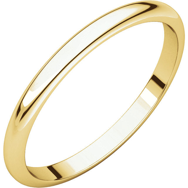 Choose Your Width Plain Gold Wedding Band Ladies - Moissanite Rings