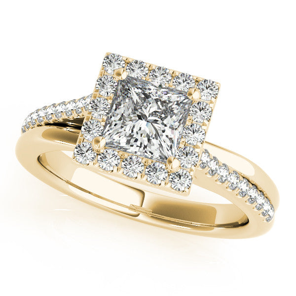 Princess Cut Moissanite Engagement Ring Diamond Setting - Emily - Moissanite Rings