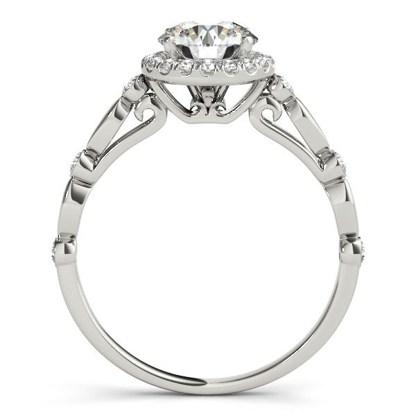 Round Moissanite Engagement Ring Diamond Setting - Twilight - Moissanite Rings
