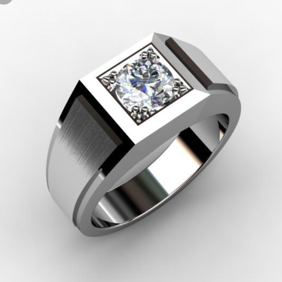 Custom Princess Cut Ring - ML - Moissanite Rings