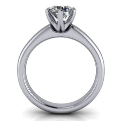 6 Prong Solitaire Moissanite Engagement Ring - Clarissa - Moissanite Rings