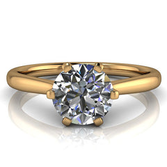 Moissanite Solitaire Engagement Ring 6 Prong Setting - Liza - Moissanite Rings