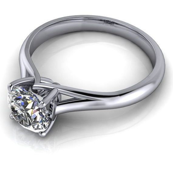 Solitaire Moissanite Engagement Ring Forever One - Giselle 7mm - Moissanite Rings