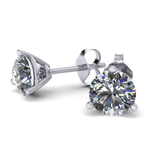 Forever Brilliant Moissanite Stud Earrings (3 prongs) - Moissanite Rings